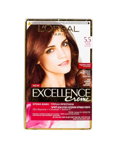 L'oreal Excellence N.5.5 ακαζού μαόνι βαφή μαλλιών