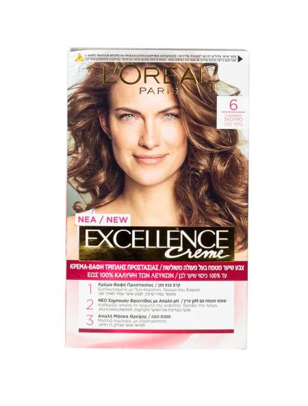 L'oreal Excellence N.6 ξανθό σκούρο βαφή μαλλιών