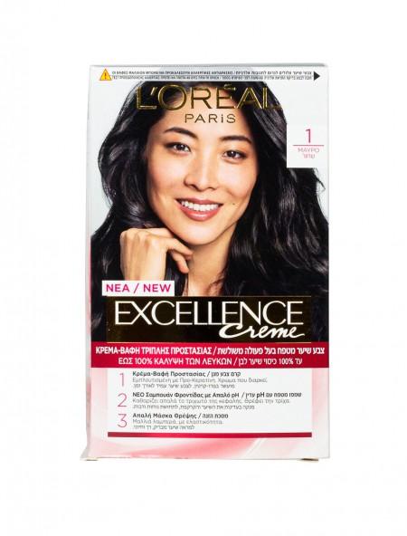 L'oreal Excellence N.1 μαύρο βαφή μαλλιών