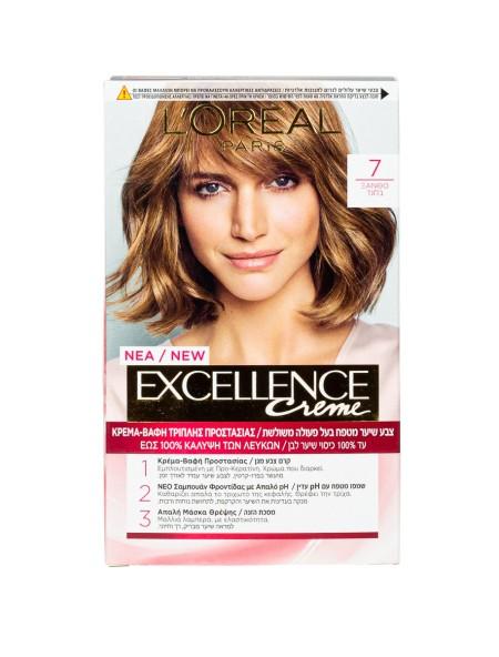 L'oreal Excellence N.7 ξανθό βαφή μαλλιών