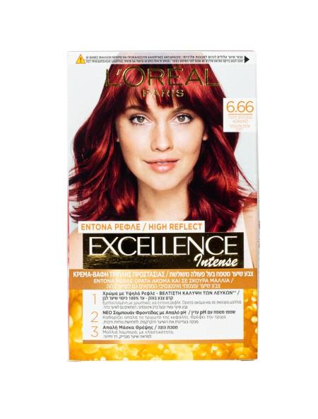 L'oreal Excellence N.6.66 πολύ έντονο κόκκινο βαφή μαλλιών