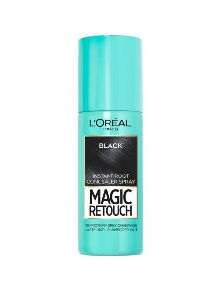 L'oreal magic retouch spray black βαφή μαλλιών 75ml