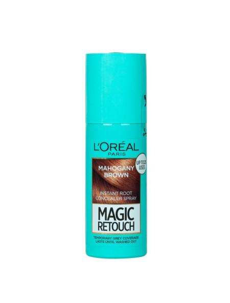 L'oreal magic retouch spray mahogany brown βαφή μαλλιών 75+25ml