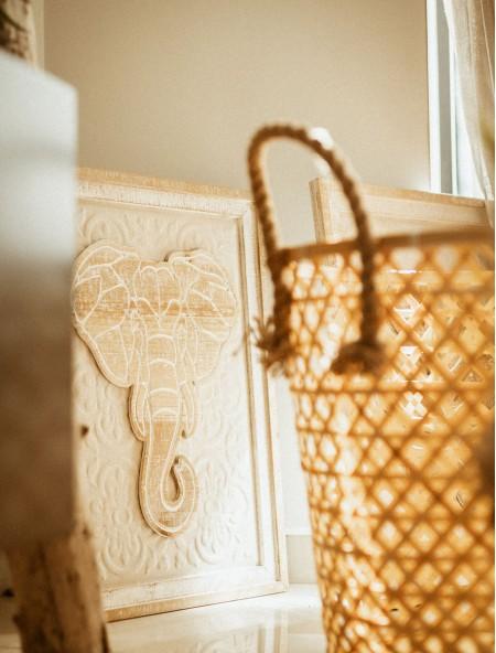 Κάδρο ξύλινο με ελέφαντα