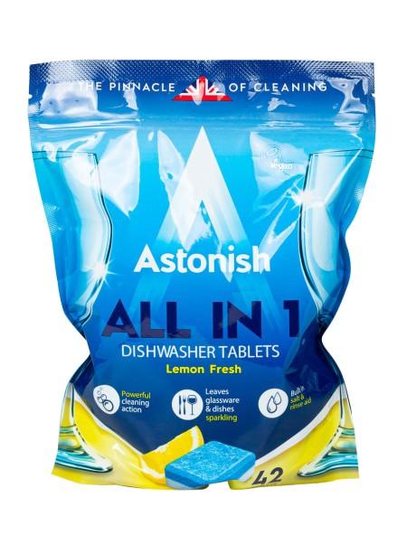 Astonish all in 1 ταμπλέτες πλυντηρίου πιάτων λεμόνι 42 τεμάχια