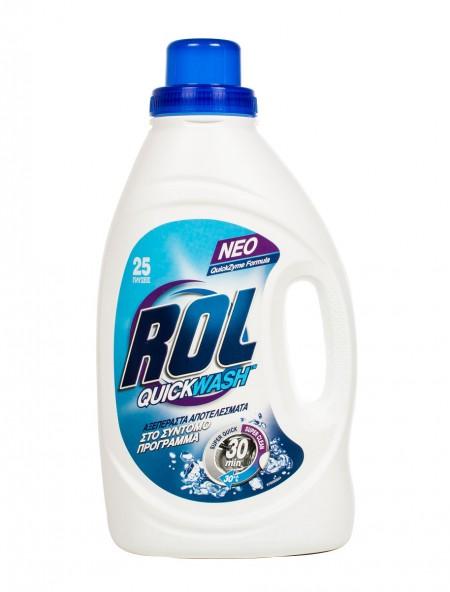 Rol quickwash υγρο πλυντηρίου ρούχων 1.45L 25 μεζούρες