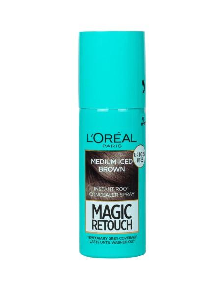 L'oreal magic retouch spray N.7 medium iced brown βαφή μαλλιών 75ml