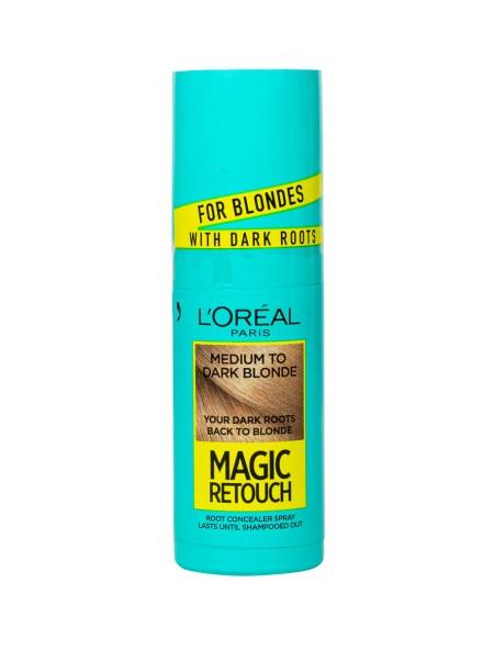 L'oreal magic retouch spray medium to dark blond βαφή μαλλιών 75ml