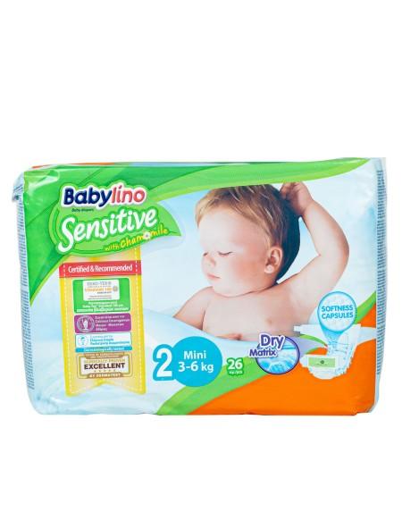 Babylino sensitive N.2 3-6kg 26 τεμάχια