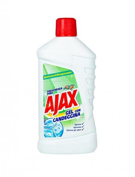 Ajax gel 2 σε 1 υγρό καθαριστικό γενικής χρήσης με χλώριο 1L