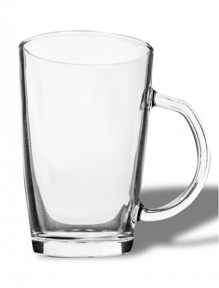 Κούπα γυάλινη διάφανη με χερούλι