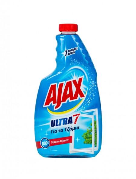 Ajax ultra 7 ανταλλακτικό υγρό τζαμιών 600ml