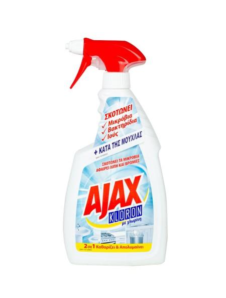 Ajax kloron υγρό καθαριστικό γενικής χρήσης με χλώριο 750ml