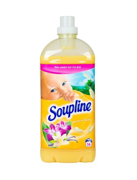 Soupline μαλακτικό βανίλια 1.3L 56 μεζούρες