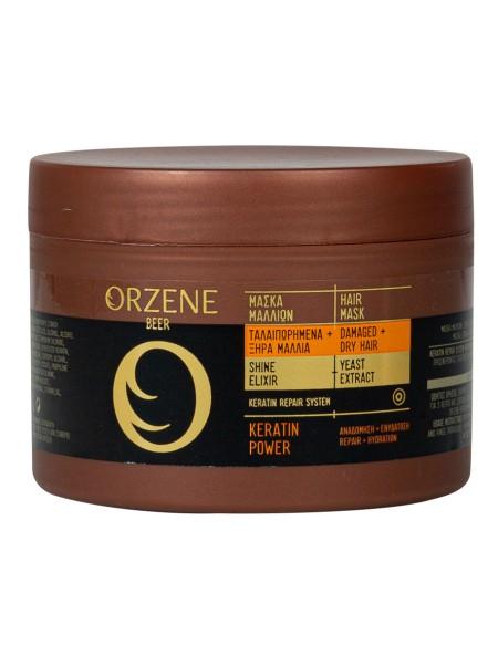 Orzene keratin power μάσκα μαλλιών για ξηρά μαλλιά 250ml