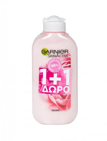 Garnier skin active rose γαλάκτωμα καθαρισμού 200ml (1+1)