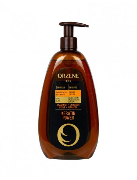 Orzene keratin power σαμπουάν για ξηρά μαλλία 750ml