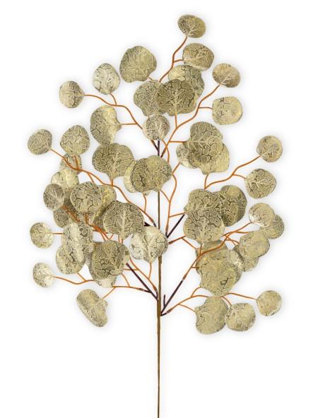 Διακοσμητικό κλαδί χρυσό με στρογγυλά φύλλα