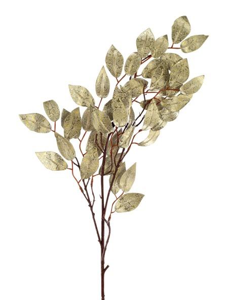 Διακοσμητικό κλαδί χρυσό με λεπτά φύλλα