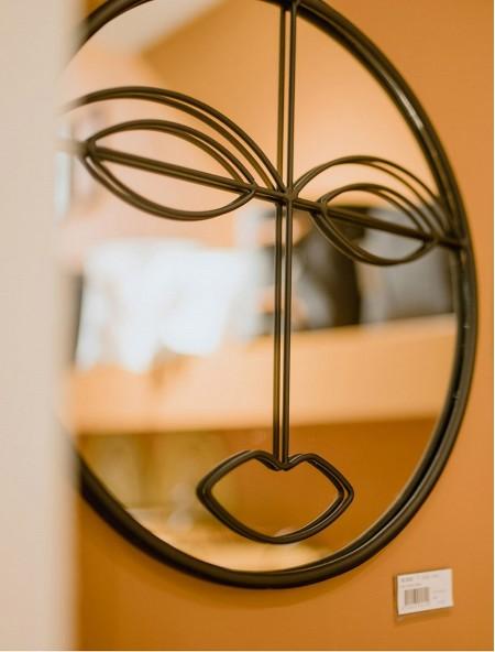Καθρέφτης με σχέδιο πρόσωπο στρογγυλός