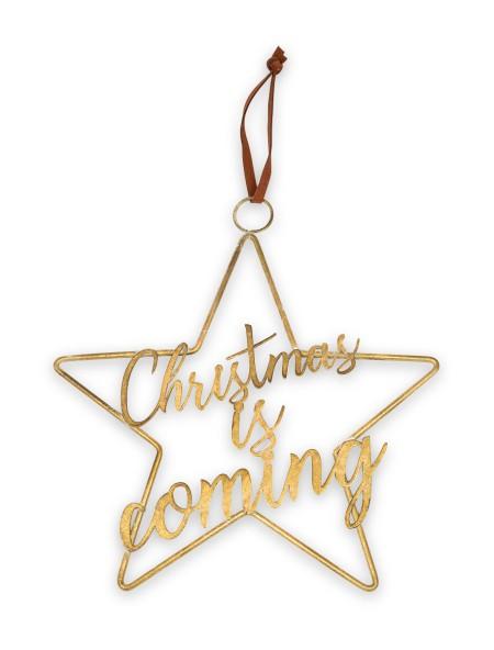 Χριστουγεννιάτικο στολίδι αστέρι Christmas is Coming