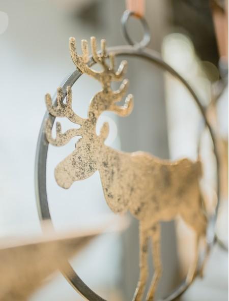 Χριστουγεννιάτικο στολίδι ελάφι μεταλλικό