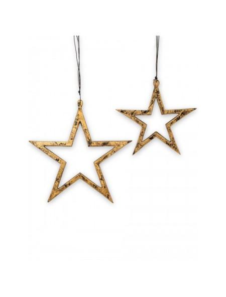 Χριστουγεννιάτικο κρεμαστό αστέρι μεταλλικό