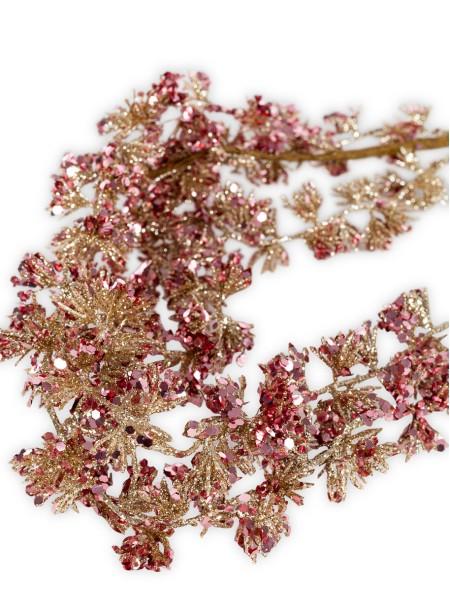 Διακοσμητικό λουλούδι ιτιά με glitter