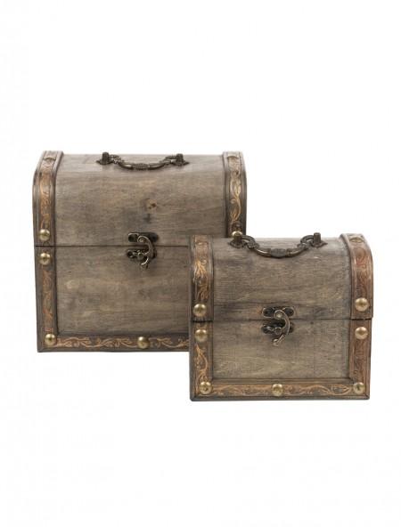 Διακοσμητικές βαλίτσες ξύλινες σετ 2 τεμάχια