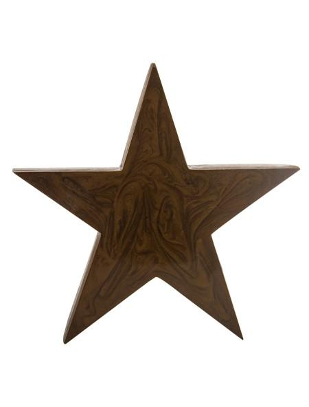 Διακοσμητικό ξύλινο αστέρι με γυαλιστερή επιφάνεια