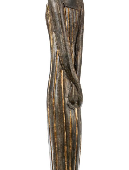 Διακοσμητική ξύλινη γυναικεία φιγούρα