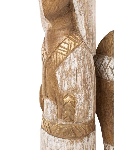Διακοσμητικό ξύλινο αγγελάκι καφέ με λευκό