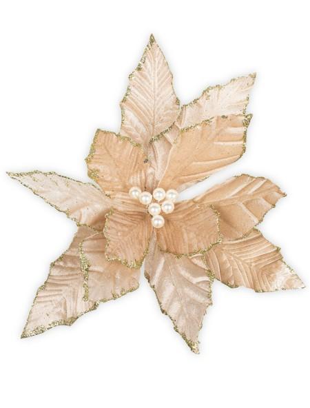 Διακοσμητικό αλεξανδρινό υφασμάτινο με πέρλα σε κλιπ