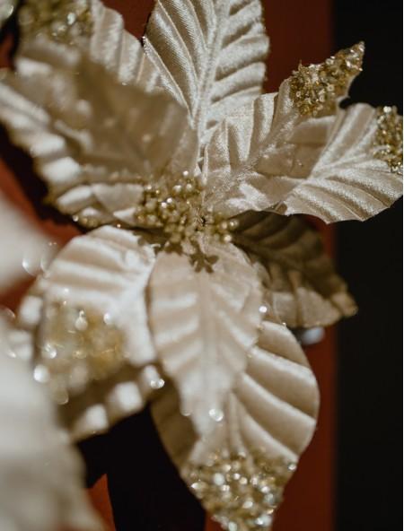 Διακοσμητικό αλεξανδρινό υφασμάτινο με glitter σε κλιπ