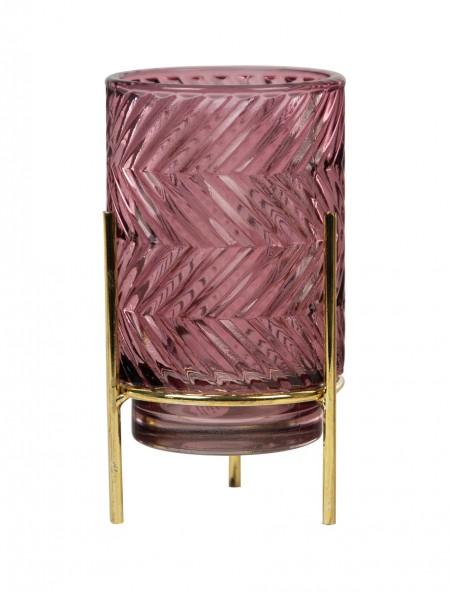 Ρεσό γυάλινο με ζιγκ ζαγκ ροζ