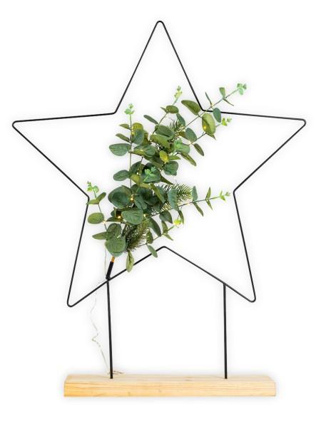 Διακοσμητικό αστέρι σε ξύλινη βάση με LED