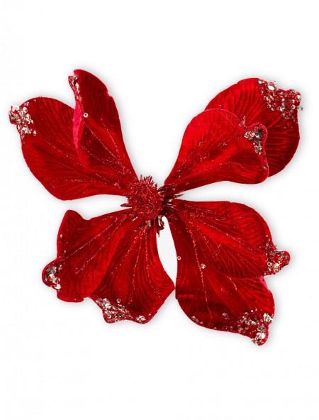 Διακοσμητικό βελούδινο λουλούδι σε κλιπ