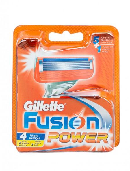 Gillette fusion power ανταλλακτικά ξυραφάκια 4 τεμάχια