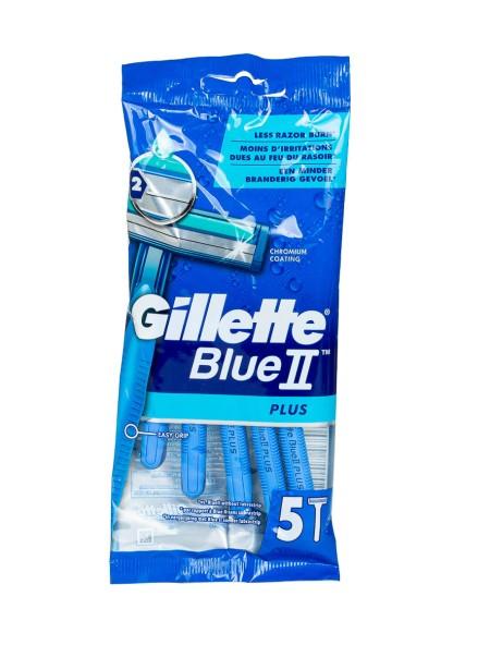 Gillette  blue 2 plus ξυραφάκια 5 τεμάχια