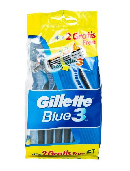 Gillette blue 3 ξυραφάκια 4+2 τεμάχια