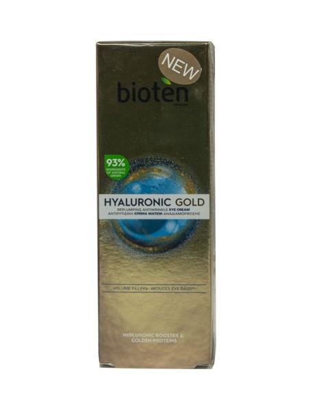 Bioten hyaluronic gold κρέμα ματιών 15ml