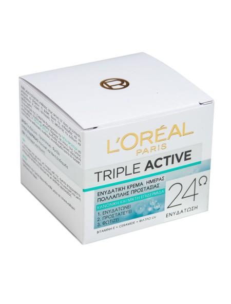 L'oreal triple active κρέμα ημέρας κανονική/μικτή  50ml