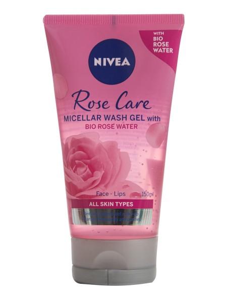 Nivea rose water gel καθαρισμού 150ml