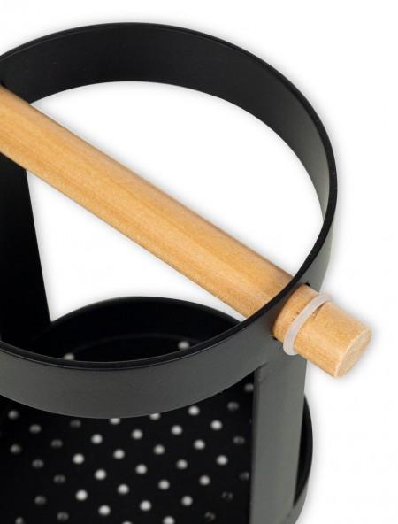 Θήκη για μαχαιροπίρουνα με ξύλινη λαβή