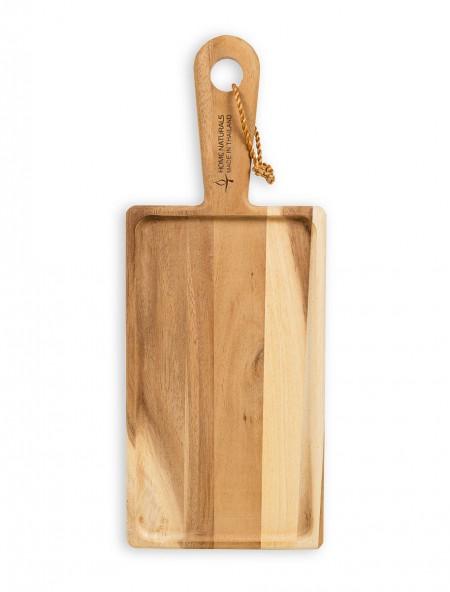 Δίσκος κοπής ξύλινος ορθογώνιος με λαβή