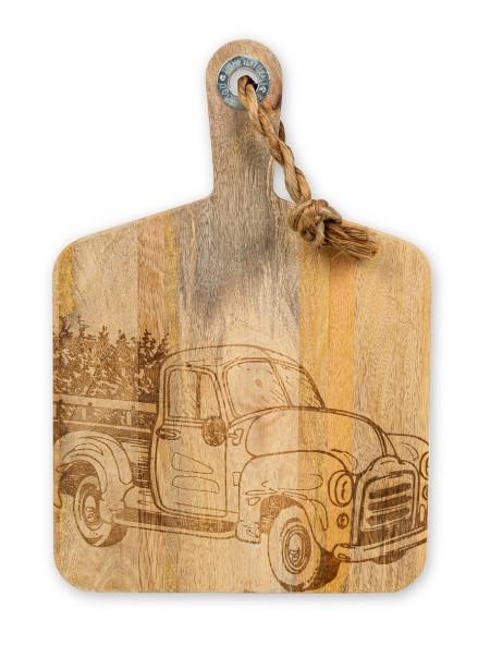 Επιφάνεια κοπής ξύλινη με φορτηγό