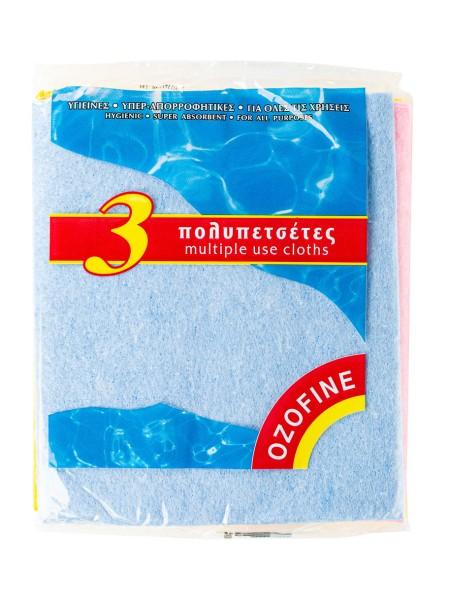 Ozofine πολυπετσέτες 3 τεμάχια