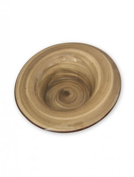Μπολάκι πορσελάνης στρογγυλό με καφέ σχέδιο