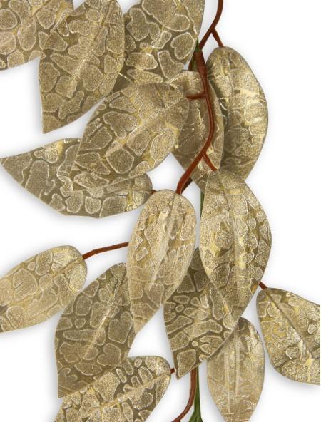 Διακοσμητική γιρλάντα με λεπτά φύλλα και glitter
