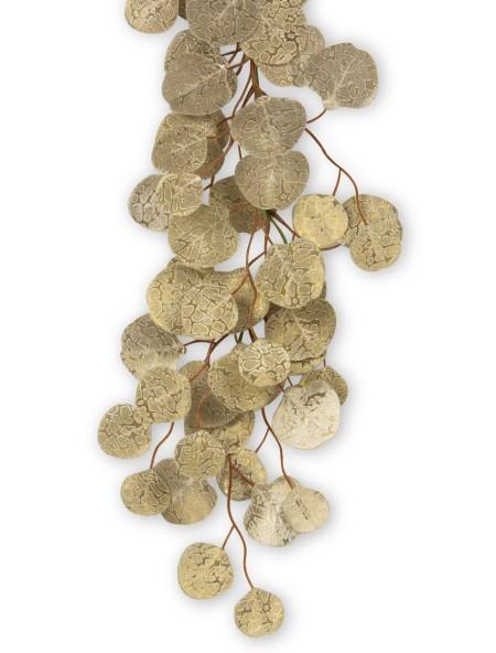Διακοσμητική γιρλάντα με στρογγυλά φύλλα και glitter